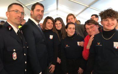 Inauguration du SDIS 53 en présence de Christophe Castaner